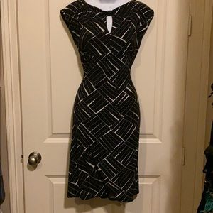 Geometric dress by Ann Taylor